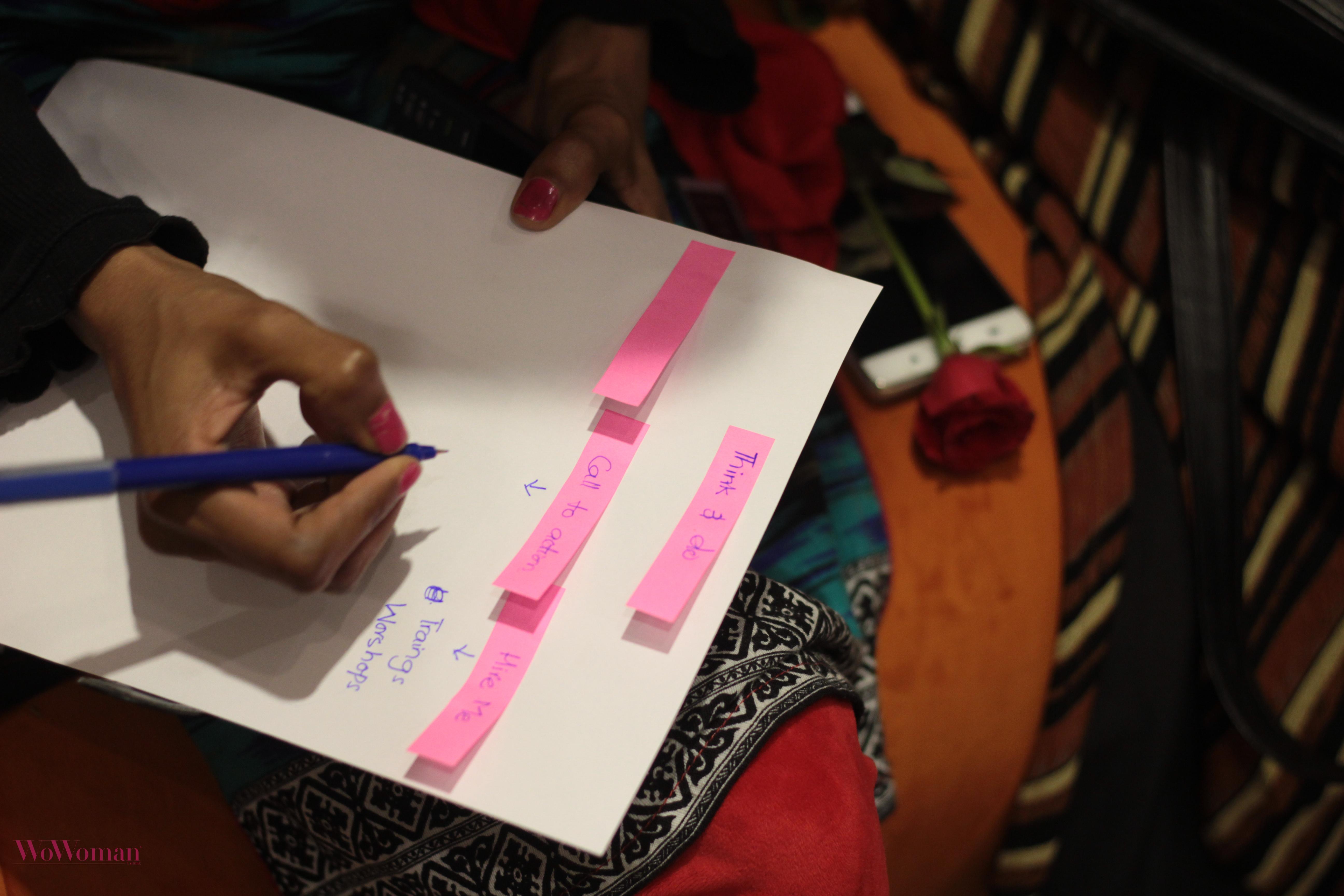 #SheBlogs event activity